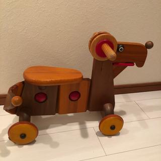 木製 犬の乗り物