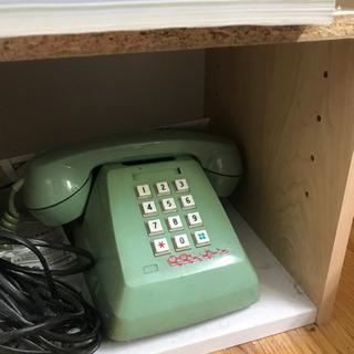 固定電話超優良番号、昭和レトロプッシュ式電話機のセット