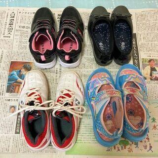★商談検討中・22㎝用の女の子靴・美品~USED品を4足取り揃えております★ - 萩市