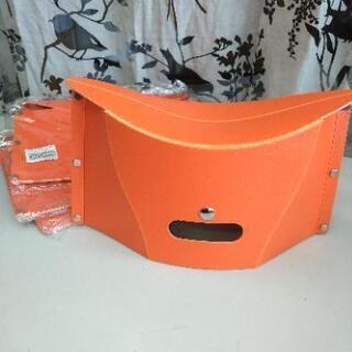 折りたたみ椅子 オレンジ