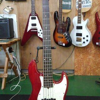 【店舗同時販売中】バッカス 5弦ベース 弾きやすいモデル レッド...