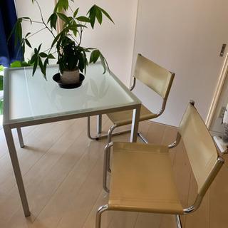 Francfrancで購入したガラスのテーブルとオシャレなイタリ...