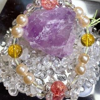転売可⭕天然石使用。商品20番 クラック水晶(ピンク)