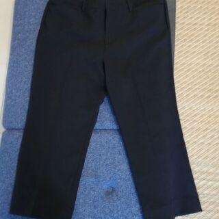 (9/19まで)【美品】しわになりにくい黒パンツ2枚セット【軽量】