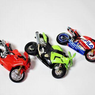 スーパーバイク プラモデル 手のひらサイズ 3台