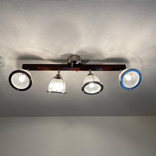 値下げしました★シーリングライト 天井照明 4灯ウッド スチール...