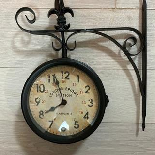 壁留め式アンティーク風時計