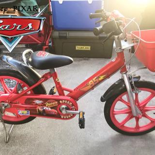 【美品】Disney カーズ 子供用自転車 16インチ - 岡山市