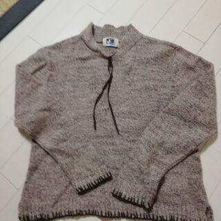 【秋冬】ブラウン刺繍ステッチ セーター【上質】