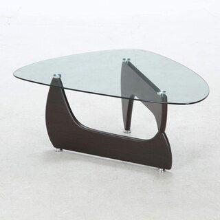 不二貿易(Fujiboeki) ガラスセンターテーブル ウォルナ...