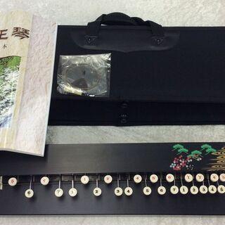 大正琴 ブラック メーカー不明 教本 ケース付き 楽器 和楽器 コト