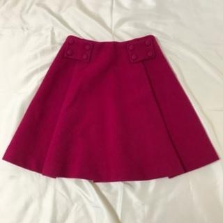 ウールスカート フューシャピンク