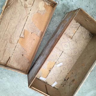 大昔の古い木箱 - 靴/バッグ