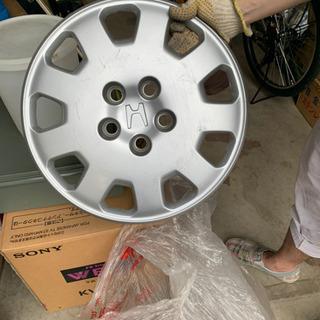 廃タイヤ ホイール 4本 ホイールカバーはHONDA