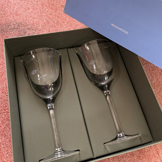 ウエッジウッドワイルドストロベリーオープンワイングラスペア