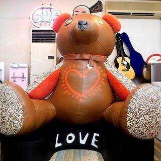 展示品 COACH×Keith Haring 巨大テディベア レ...