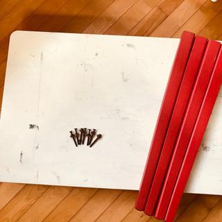 白テーブル☆机ダイニング食卓家具ファニチャー椅子90×60レトロ...