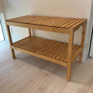 IKEA   イケア 木製 ベンチ MOLGER  椅子  チェア