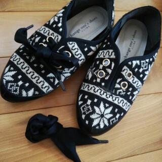 美品☆冬物パンプススニーカー靴レディースS