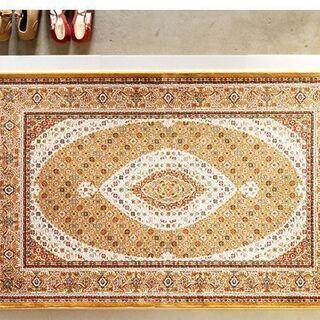 新品未使用品 ベルギー製 絨毯 黄金色 世界最高密度 ウィルトン...