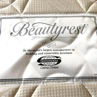 札幌近郊 送料無料 美品 シモンズ Beautyrest selection 高級マットレス セミダブル スチールフレーム付き - 空知郡