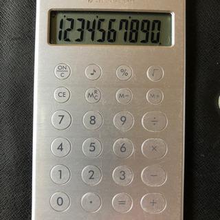 ソーラー電卓 薄型カードタイプ フラットアルミ10電卓 取扱説明書付き