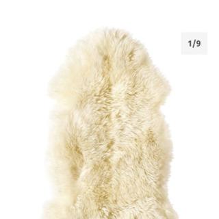 【残2】IKEA ムートン シープスキンラグ   500円 - 世田谷区