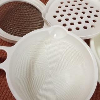 未使用☆離乳食作りに。網、すり鉢、おろし、すりこぎ