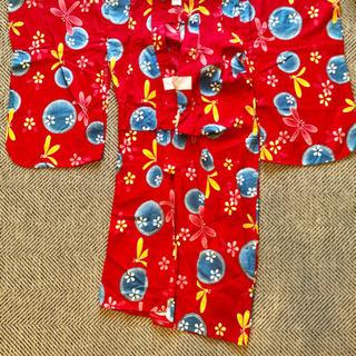 ★浴衣 7-8歳用 シャボン玉×花柄