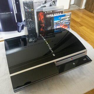 PS3(CECHL00)80GBモデル BDリモコン、ゲームなど...