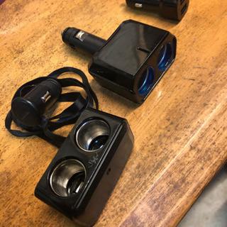 シガーソケット二分岐&USBソケット