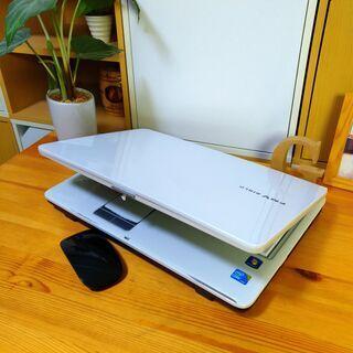 SSD128Gでcore3の高性能PC★ 綺麗な光沢パールホワイト♪ 最新Windows10 64Bit! 15.6インチの大きいサイズ☆ テンキー内蔵  メモリ4G 富士通 FUJITSU BIBLO    マウス付き  ノートパソコン 無線LAN Wi-Fi対応 DVDドライブ − 福岡県