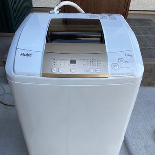 値下げ交渉可ハイアール 7kg 2017年製 洗濯機