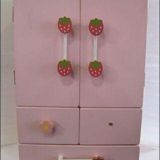 【¥2200-】マザーガーデン 野いちご 木のおままごと 冷蔵庫