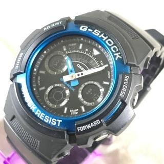 CASIO G-SHOCK ジーショック 黒デジアナ腕時計 AW...