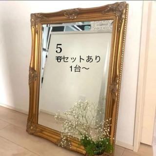 アンティーク調ミラー 壁掛け 鏡 サロン