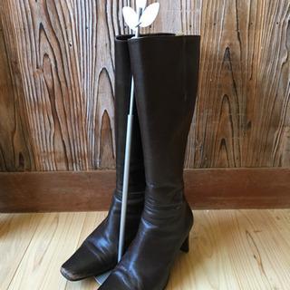 【靴】ロングブーツ  23.5  EEE
