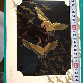 電報の漆塗りケース(紙の外箱あり)➕