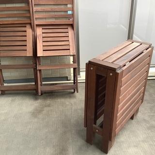 IKEAイケア ガーデンテーブルセット エップラロー
