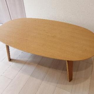 無印良品 タモ材突板ローテーブル