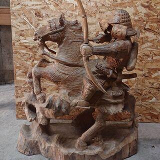木彫りの武将 90センチ 3000円