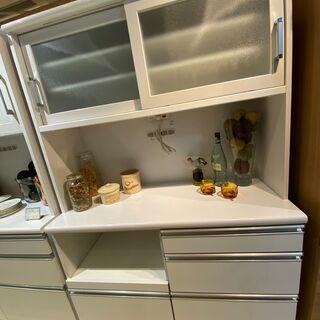レンジボード 白 収納棚 キッチン収納 中古品