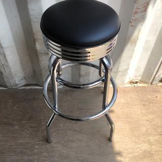 0801-9 丸椅子 チェア 鉄 黒 オシャレ ②