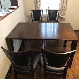 【無料】ダイニングテーブルと椅子4脚セット