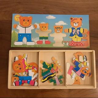 子供知育木製パズル♪未使用美品