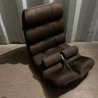 0912-13 座椅子 折りたたみ可 ブラウン リクライニ…