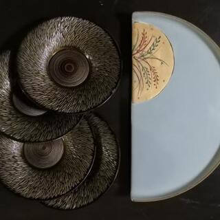 半月 皿 茶托 菓子皿 5枚セット