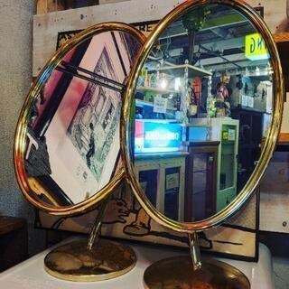 vintage desk mirror 検 ビンテージ アンティ...