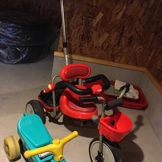 手押し三輪車と公園レーサー セット