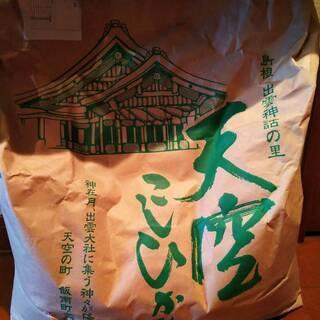 決まりました!【2】令和元年 島根県産コシヒカリ 天空 10kg